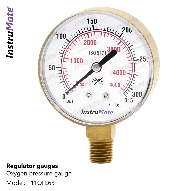 Oxygen/Acetylene pressure gauge - 111OF - Instrumate