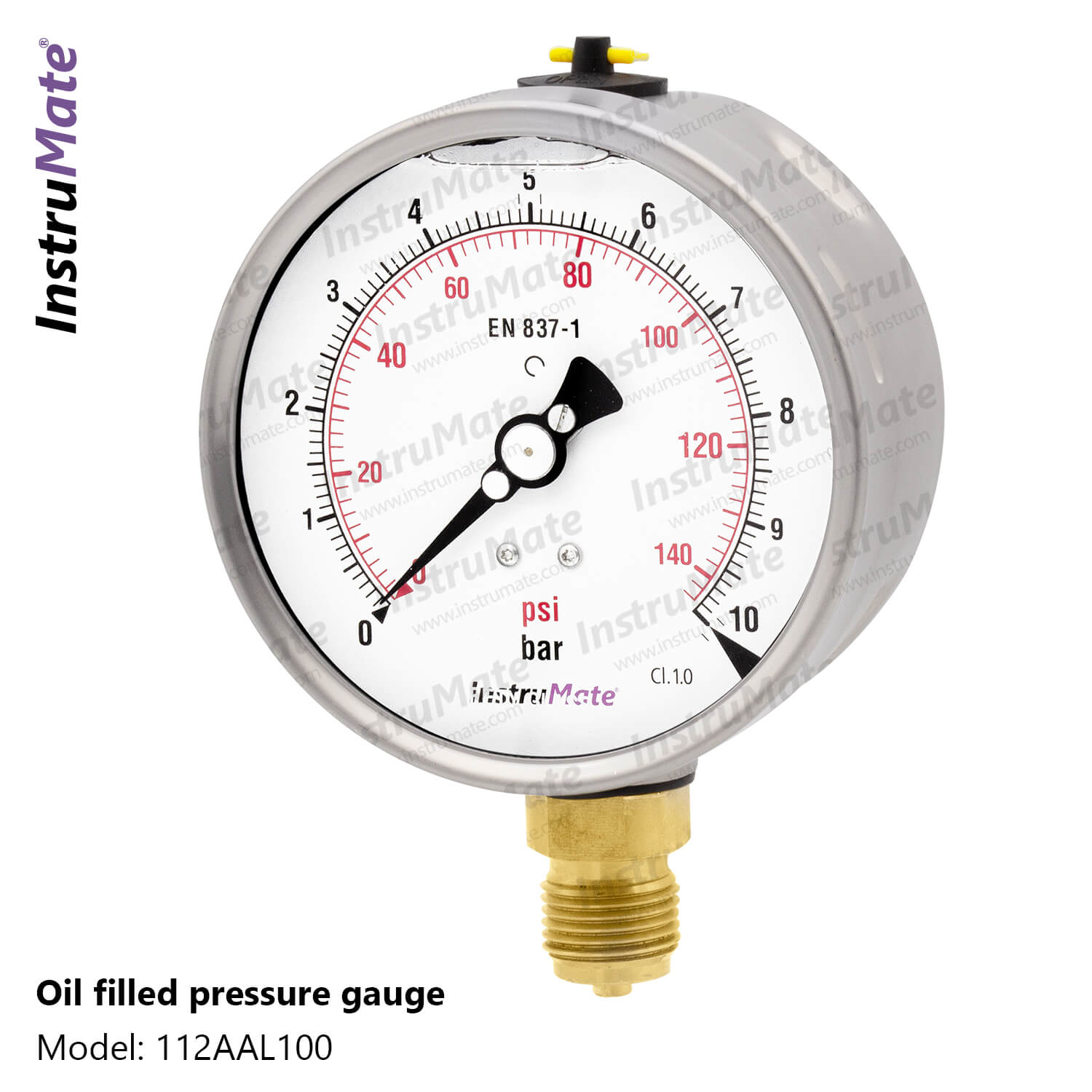 Oil Filled Pressure Gauge - 112AA - InstruMate