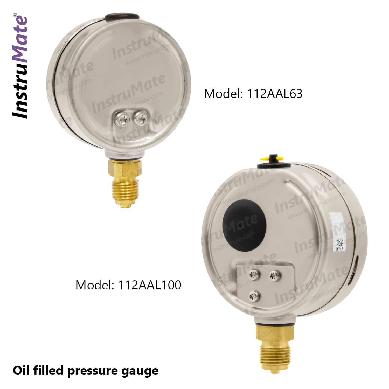 Oil Filled Pressure Gauge - 112AA - InstruMate
