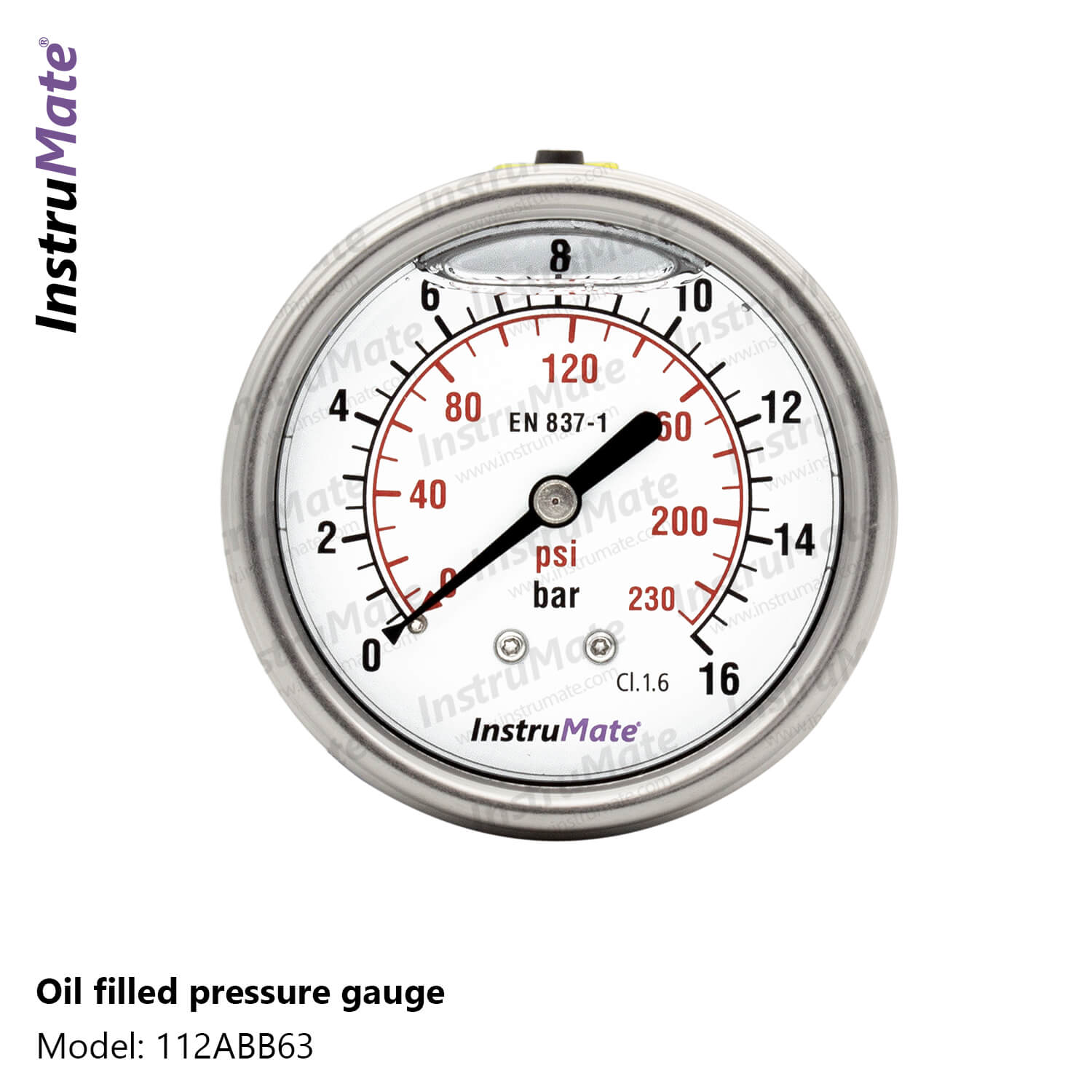 Oil Filled Pressure Gauge - 112AB - InstruMate