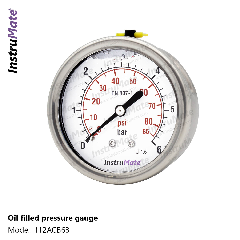 Oil Filled Pressure Gauge - 112AC - InstruMate