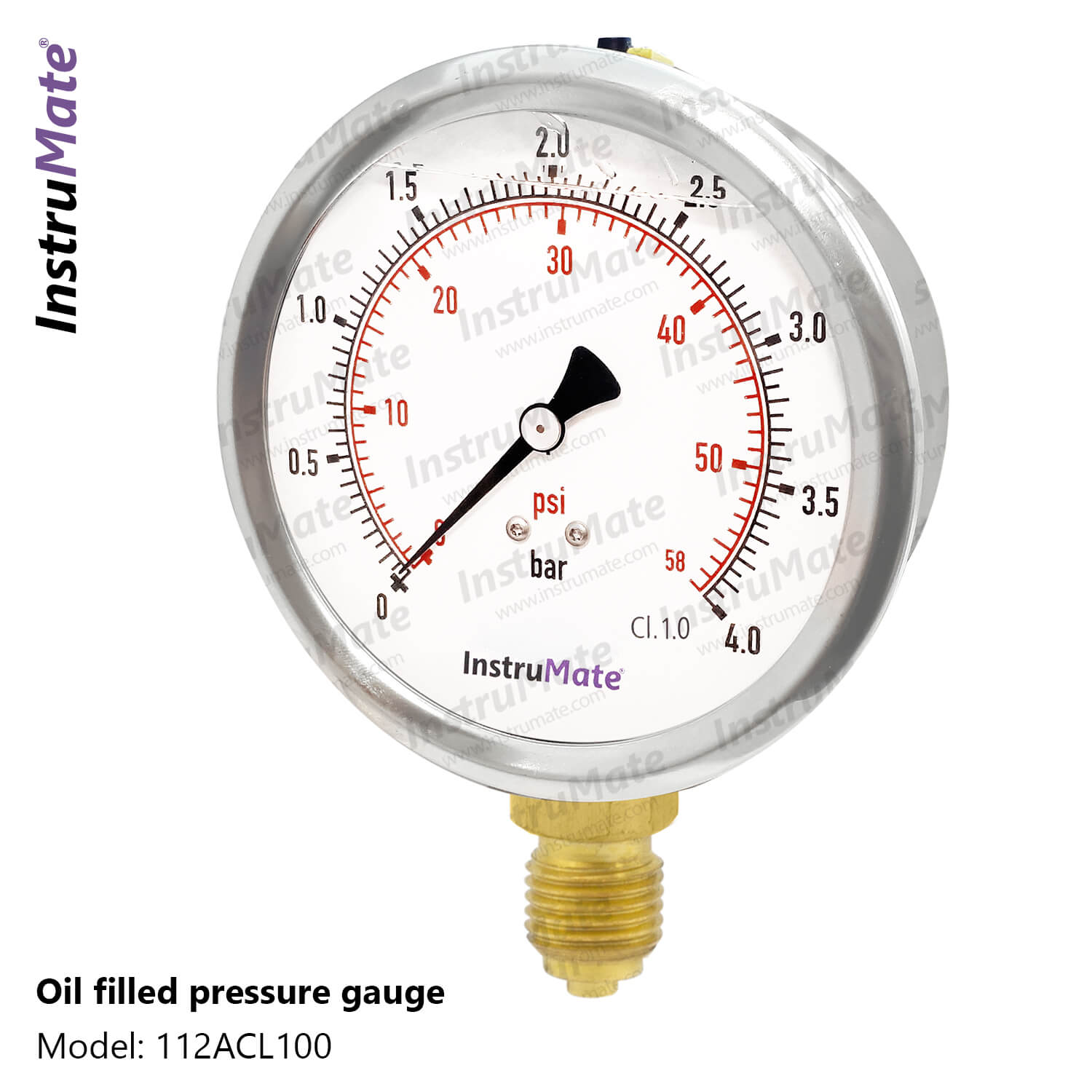 Oil Filled Pressure Gauge - 112AC - InstruMate