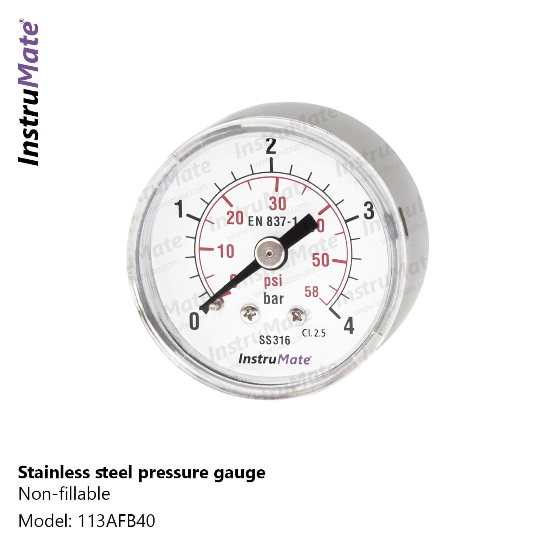 Pressure gauge full stainless steel - 113AF - Instrumate