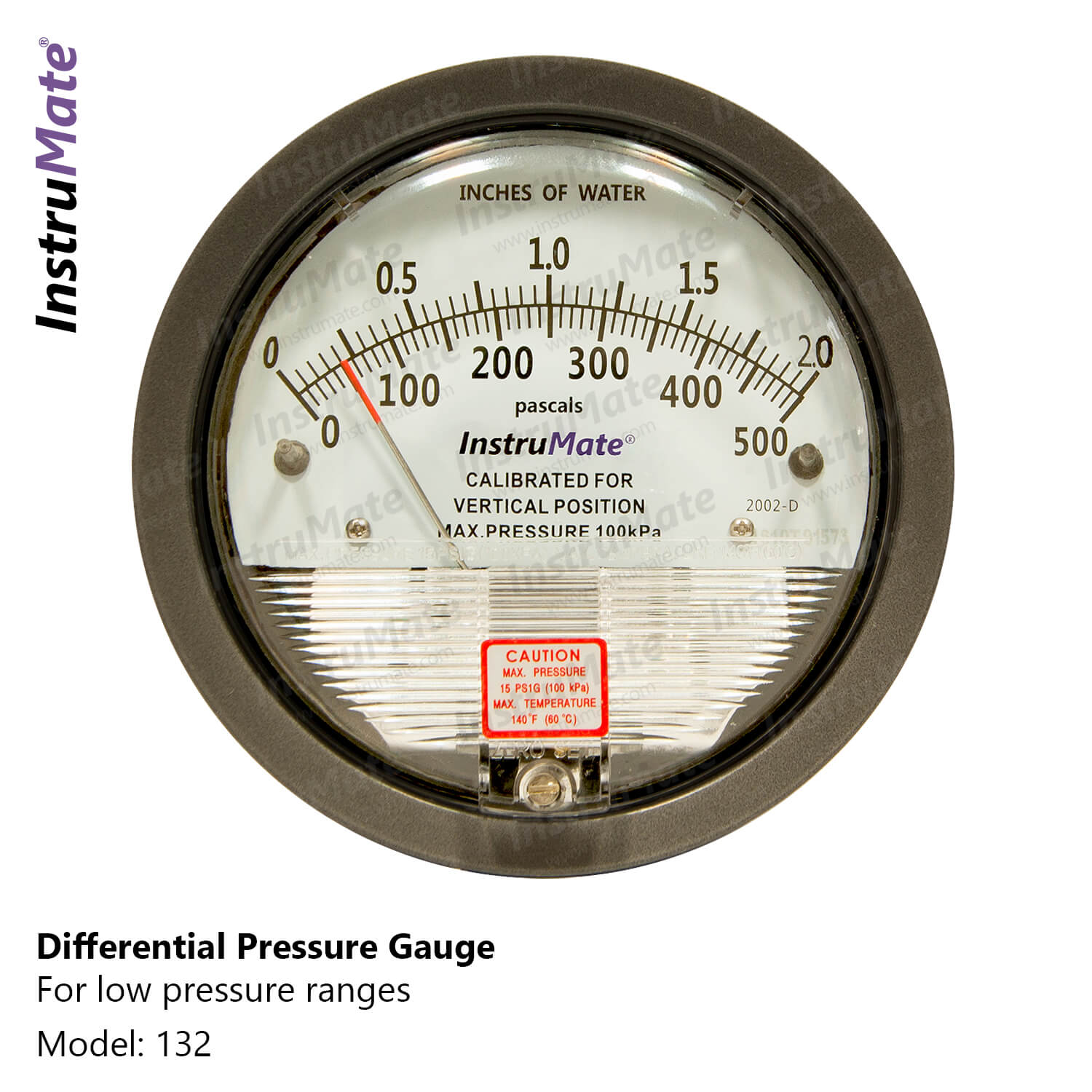Low pressure differential pressure gauge - 132 - instrumate