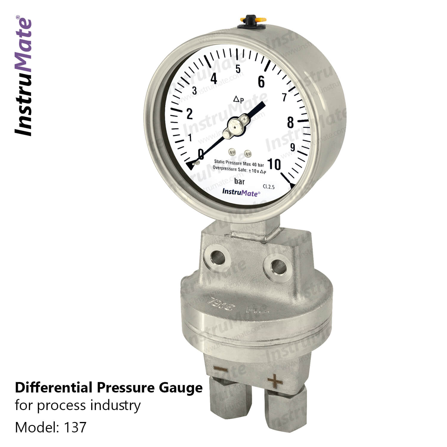 Differential pressure gauge - 132 - instrumate
