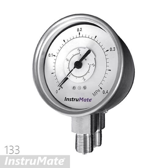 bourdon tube differential pressure gauge