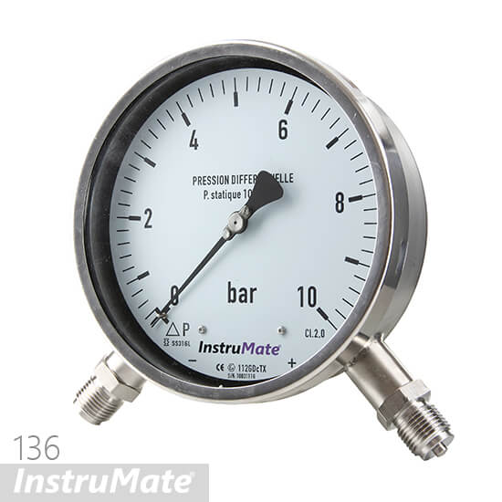 below type differential pressure gauge