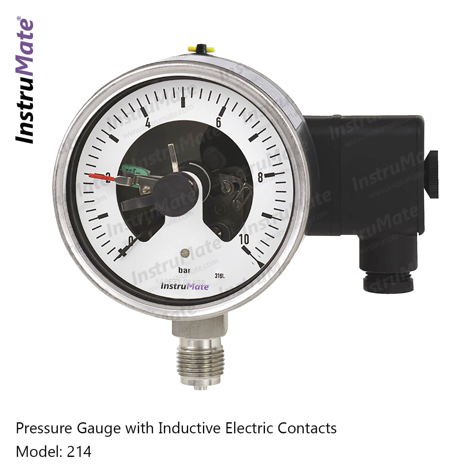 Electric Contact Pressure Gauge - 214 - Instrumate