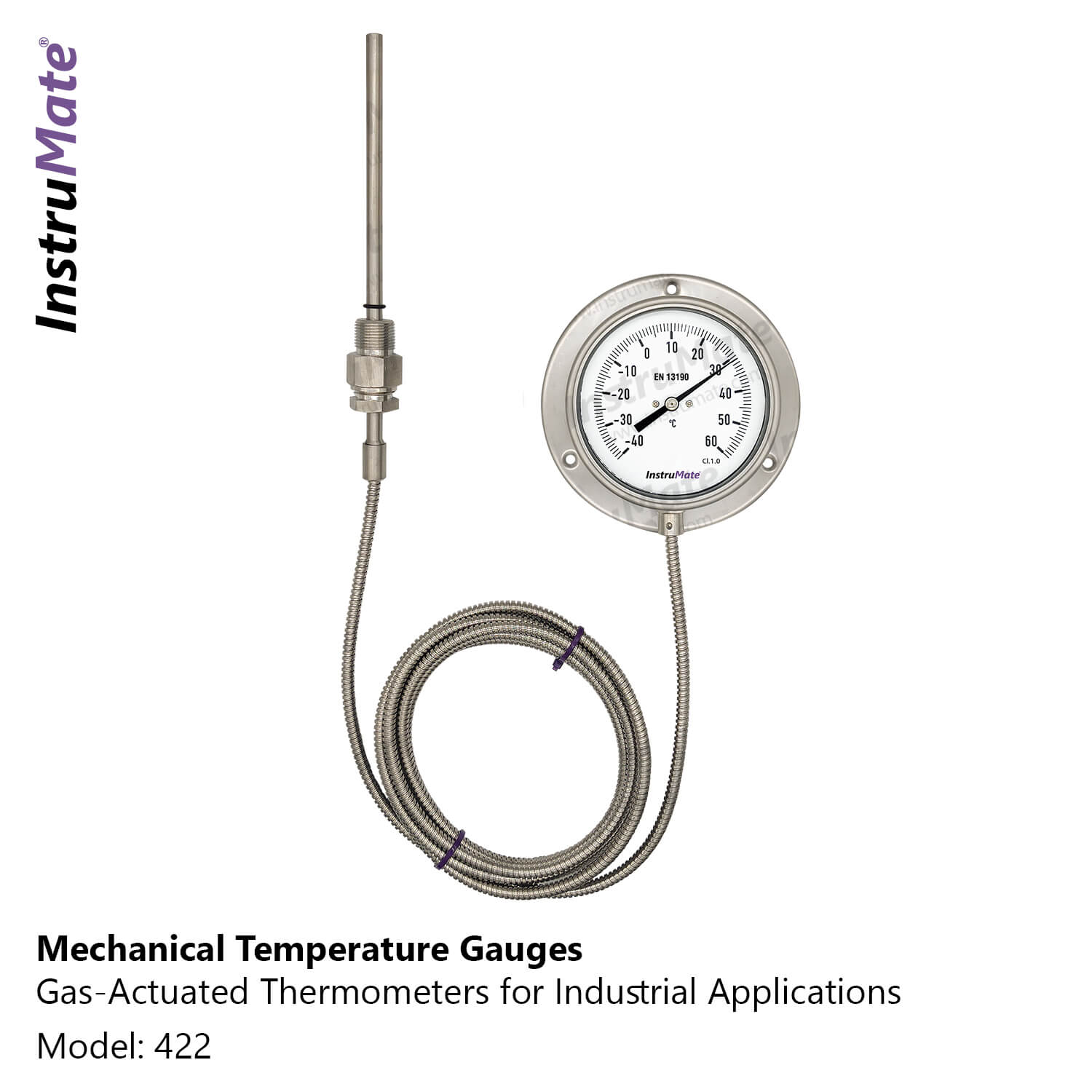 Industrial gas-actuated Thermometer -422- InstruMate