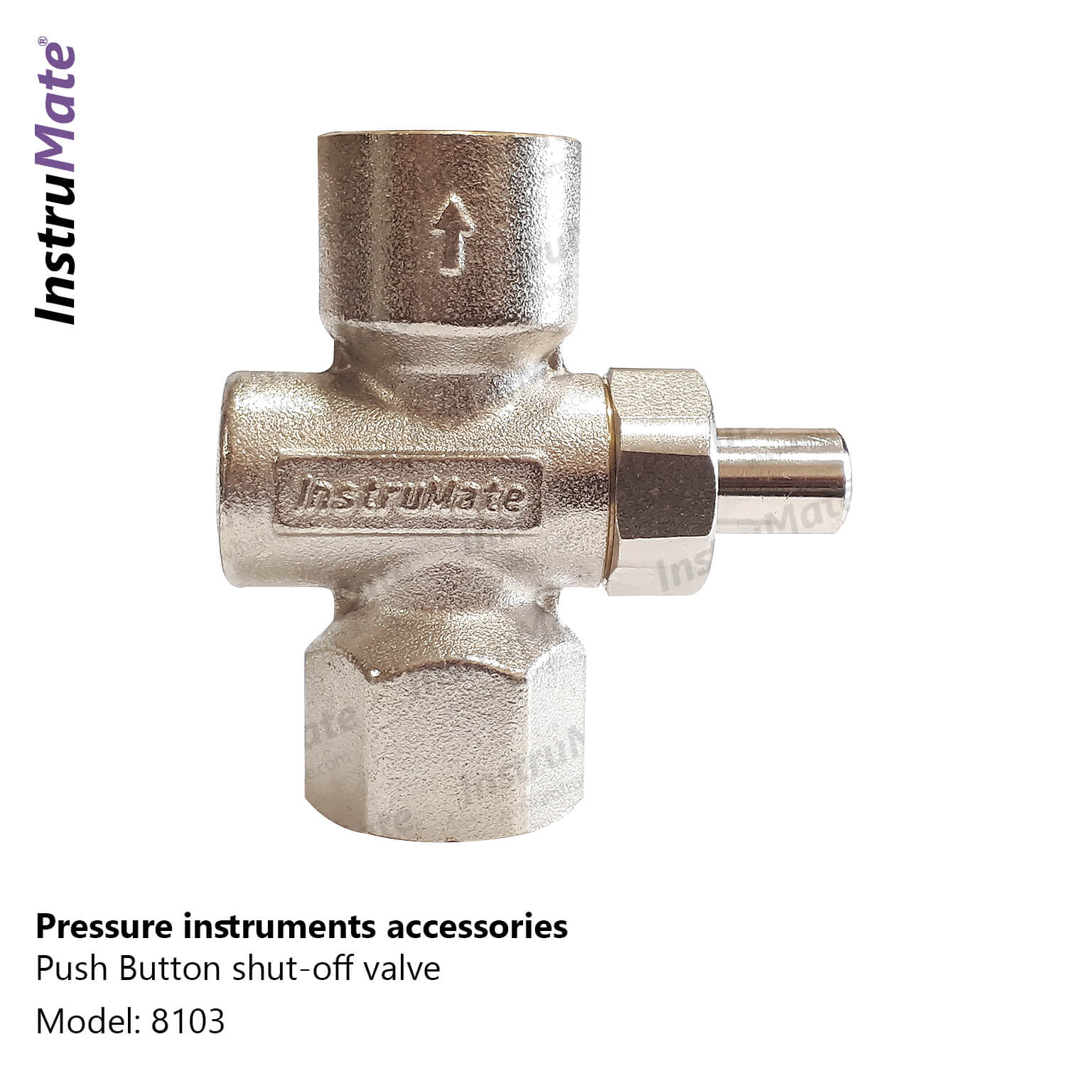 Push button shut-off valve - 8103 - Instrumate