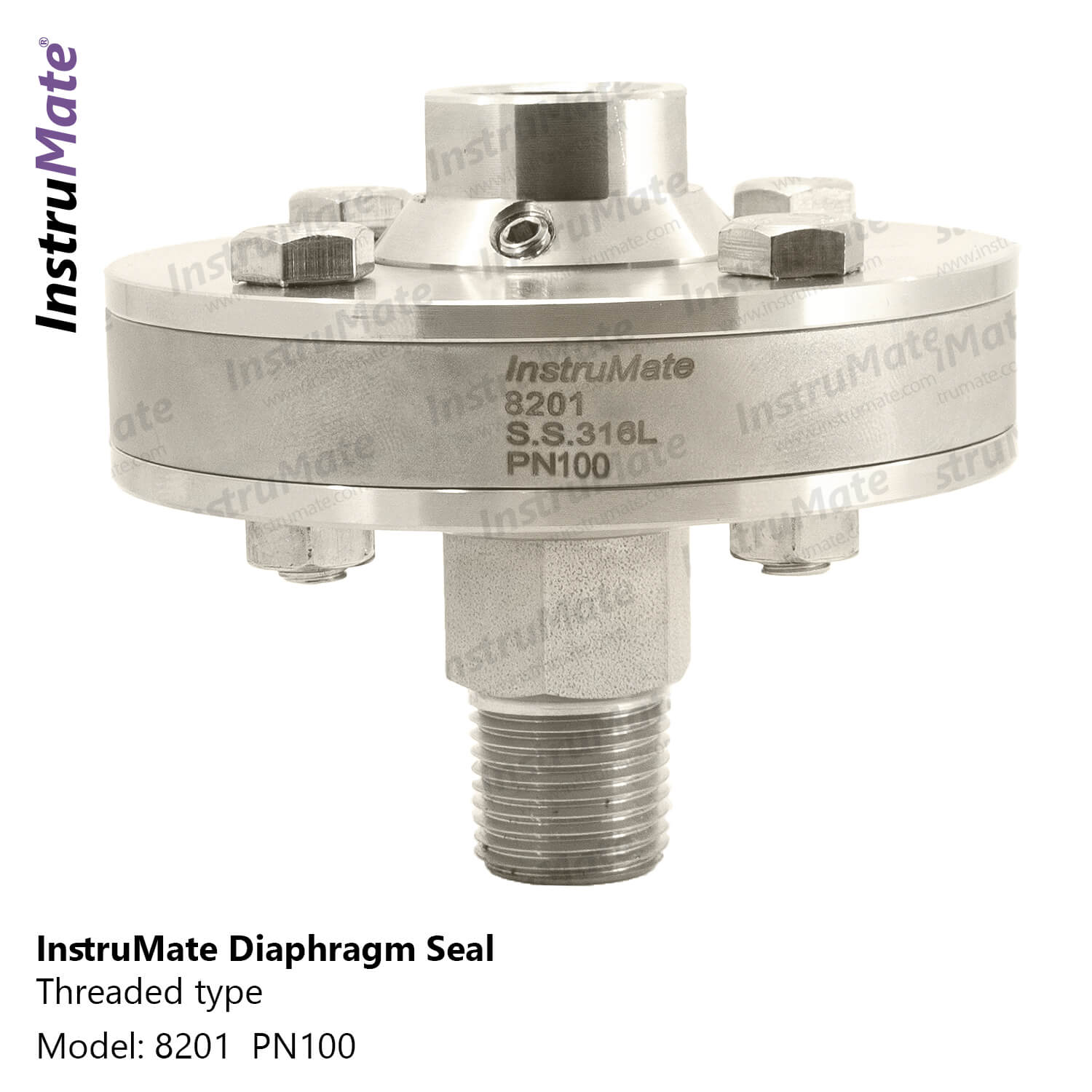 Diaphragm seal with threaded connection - 8201 - InstruMate
