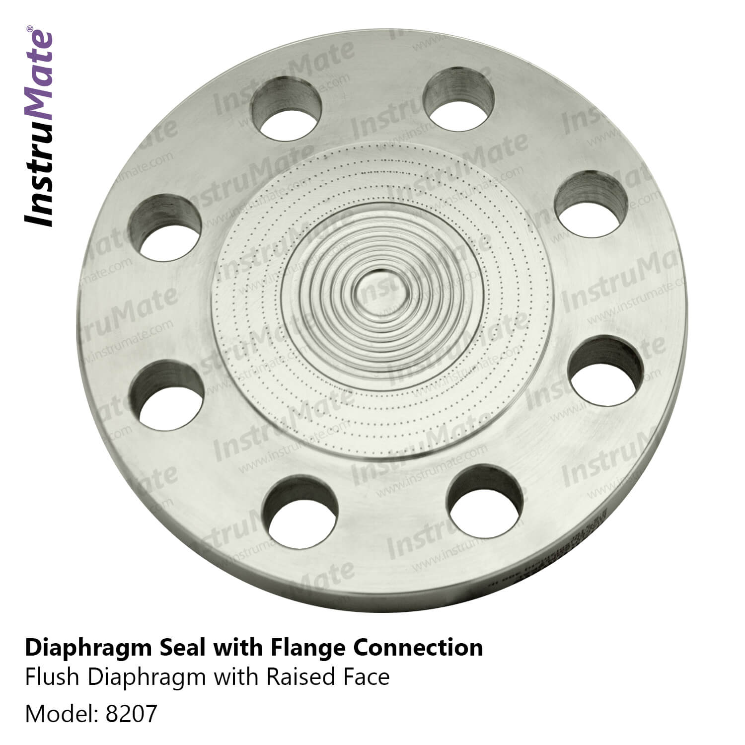 Diaphragm seal with flange connection- 8207 - Instrumate